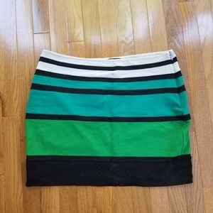 Express Color Block Pencil Skirt Stretchy